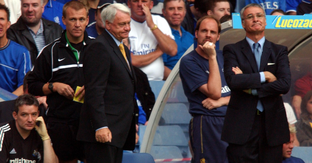 sir bobby robson and claudio ranieri watch from the touchline.jpg